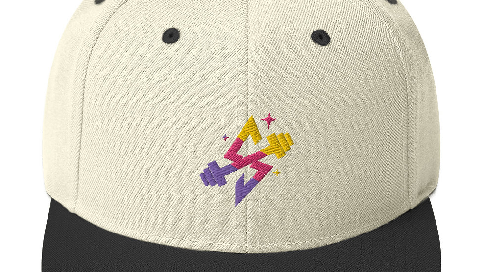 Sparkles and Strength Snapback Hat