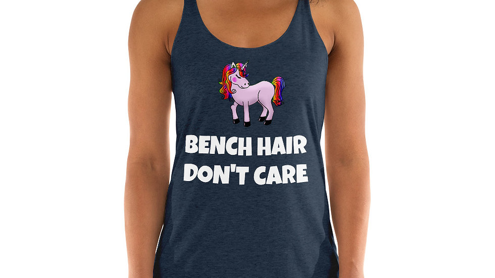 BENCH HAIR DON'T CARE Sparkles and Strength Women's Racerback Tank