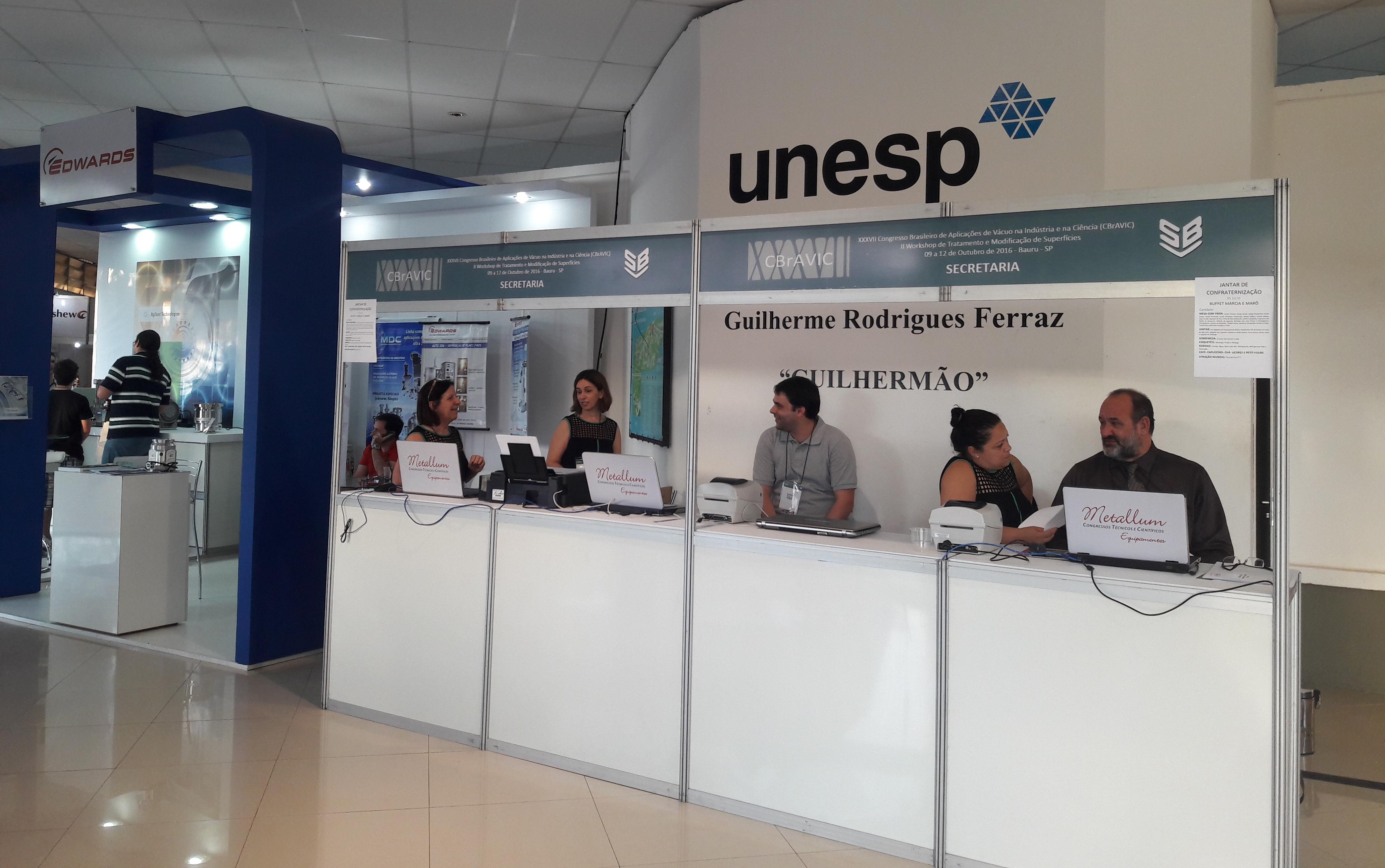 Secretaria CBrAVIC 2016 - UNESP