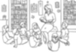 воспитатель читает детям тушью.jpg