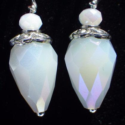 Iridescent White Cone on Silver