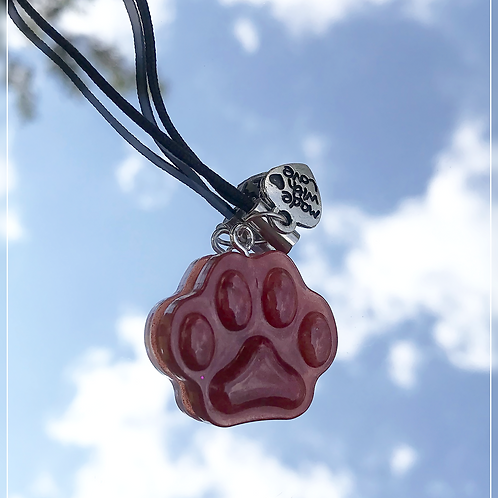 resin charm | gold paw