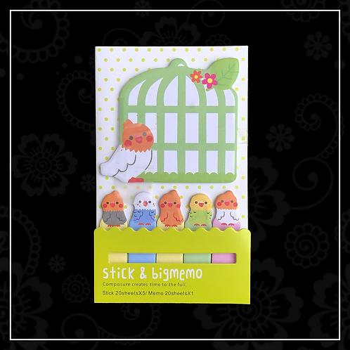 sticky note set   bird