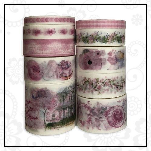 10pc washi tape set | pink