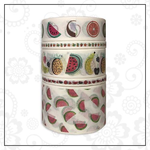5pc washi tape set | fruit