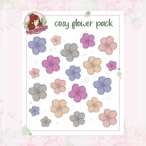 flower sticker pack | cosy