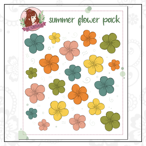 flower sticker pack | summer