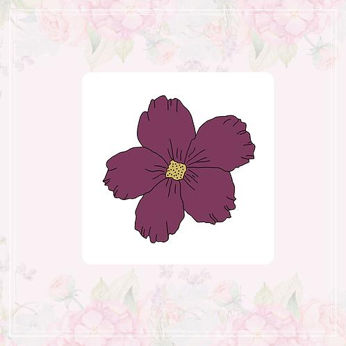 single vinyl sticker | plum flowers