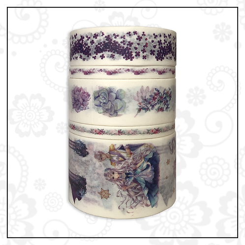 5pc washi tape set | purple