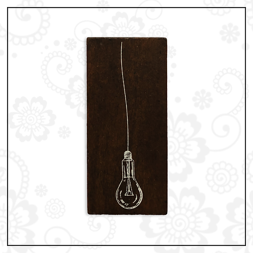 wooden stamp | lightbulb