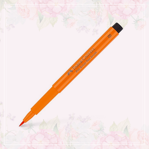 brush pen | orange glaze