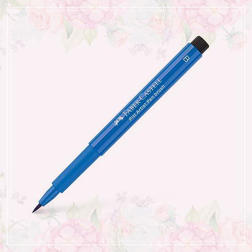 brush pen | cobalt blue