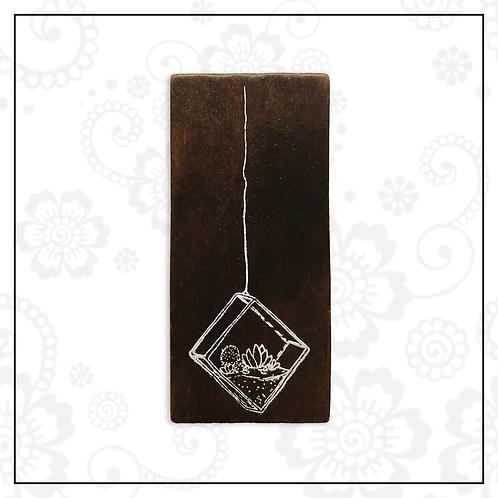 wooden stamp | terrarium