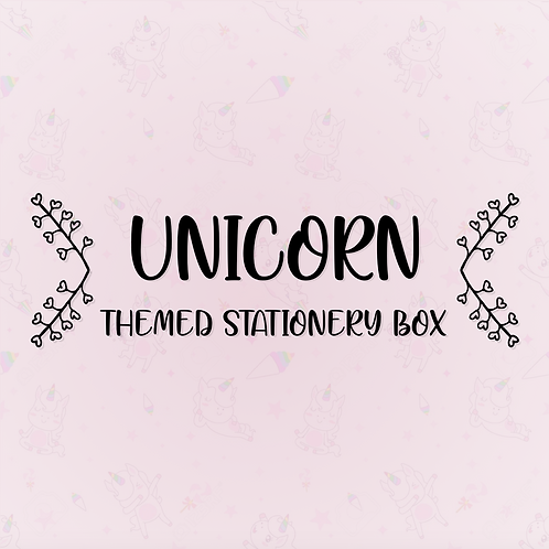 Unicorn Stationery Box