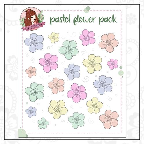 flower sticker pack | pastel