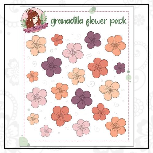 flower sticker pack   granadilla