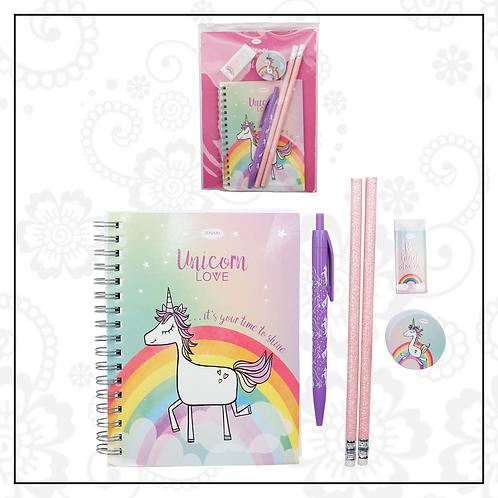 unicorn stationery set