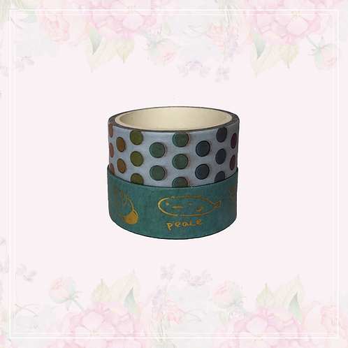 foil washi tape pair | style 2