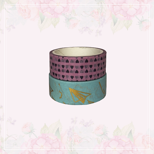 foil washi tape pair   style 13