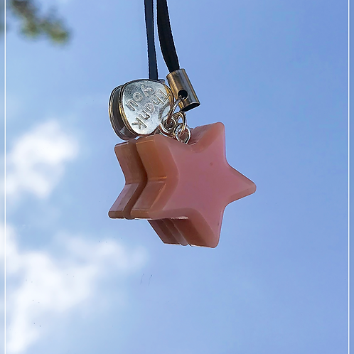 resin charm   pink star