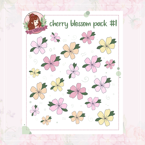 cherry blossom sticker pack | #1