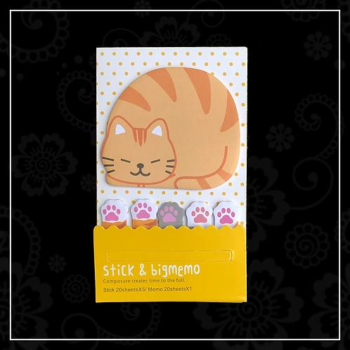 sticky note set | cat