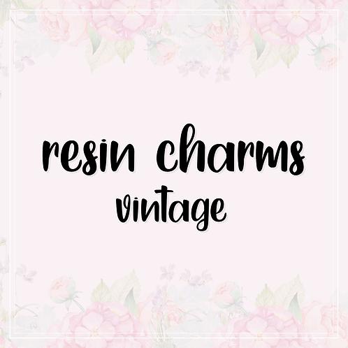 resin charm   vintage pendant