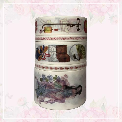 5pc washi tape set | lantern