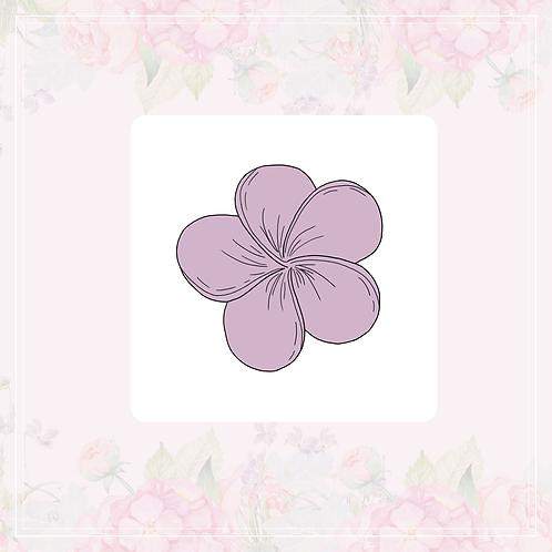 single vinyl sticker | cosy & purple flowers