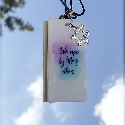 resin charm   quote tag
