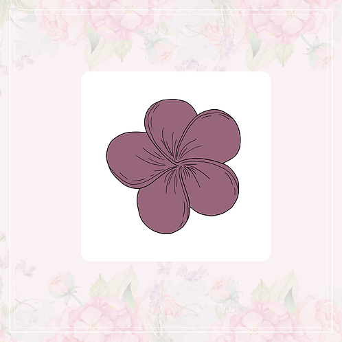 single vinyl sticker | granadilla & summer flowers