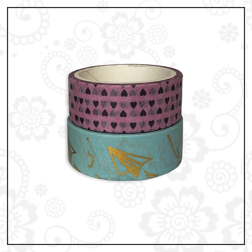 foil washi tape pair | style 13