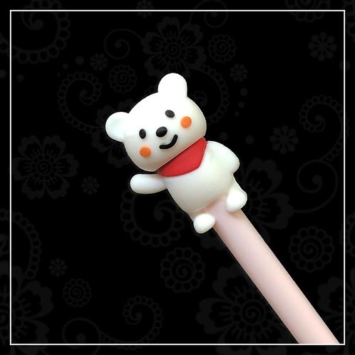 bear gel pen | pink