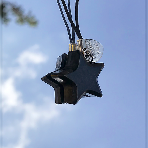 resin charm | black star