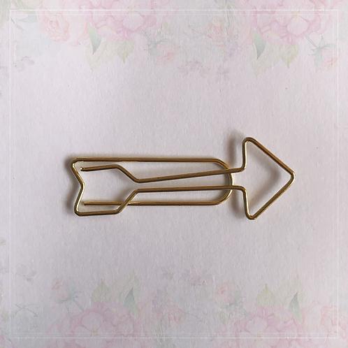 paper clip   gold arrow