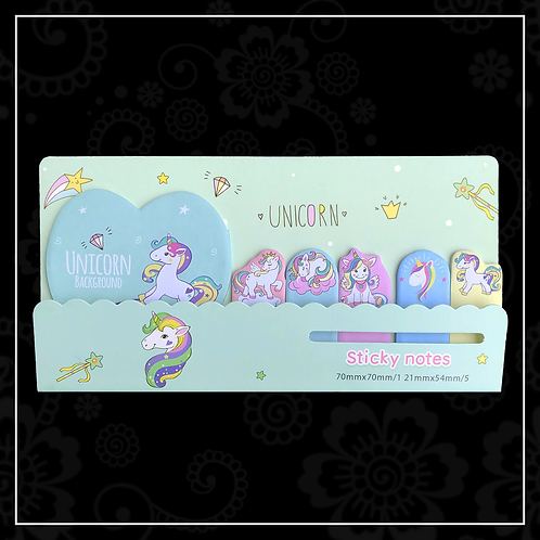 unicorn sticky note set | green