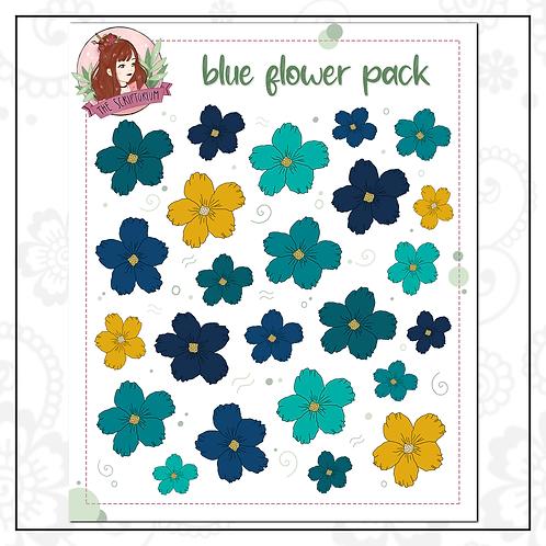 flower stick pack   blue