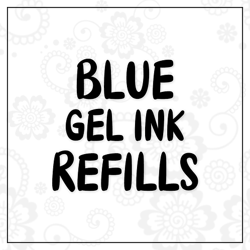 blue gel ink refill