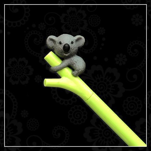 koala gel pen | dark grey