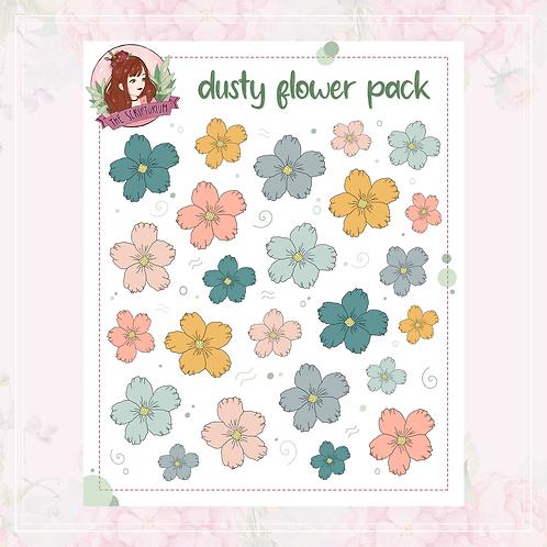 flower sticker pack | dusty