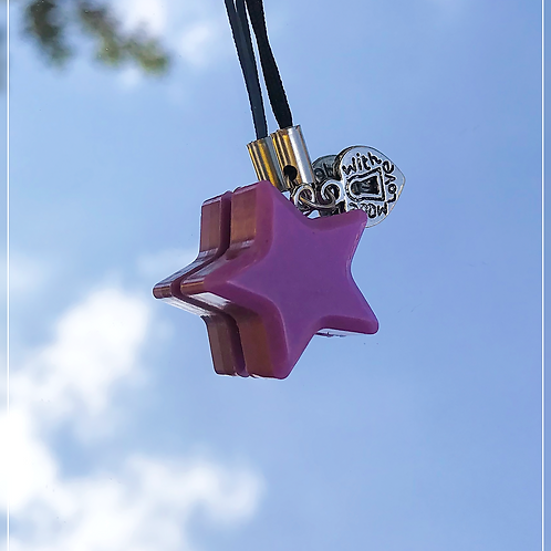 resin charm | purple star