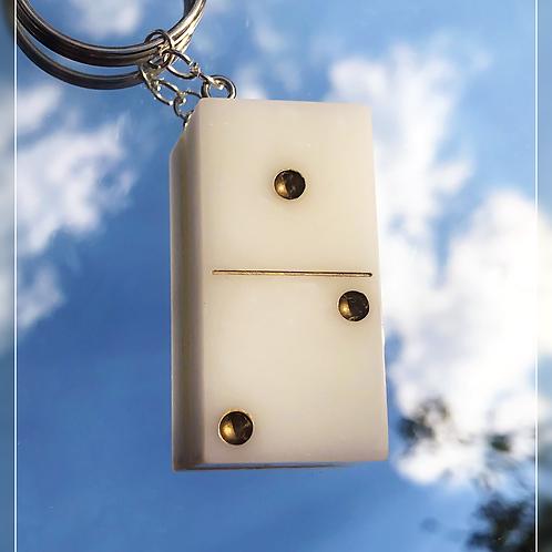 resin charm | white dominos