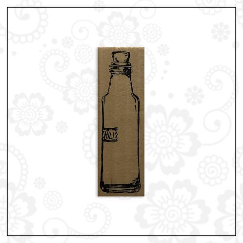 wooden stamp | bottle