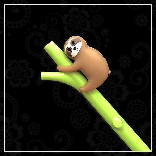 sloth gel pen | light brown