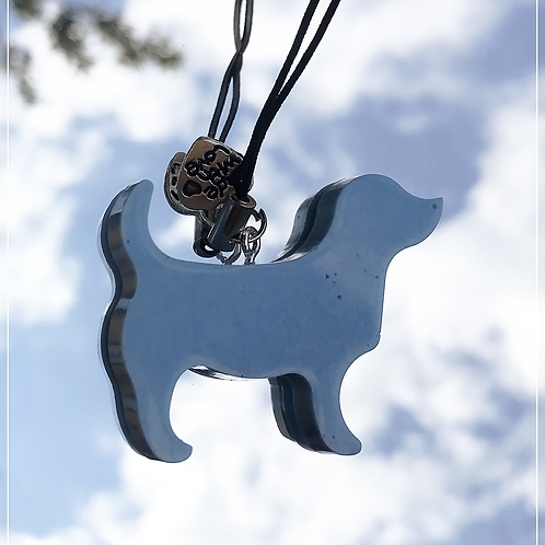 resin charm | blue dog