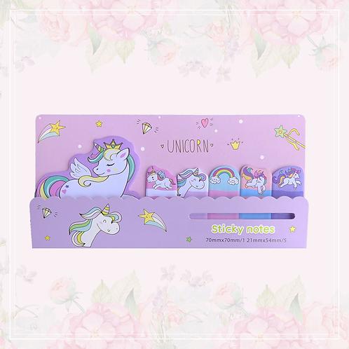 unicorn sticky note set | purple