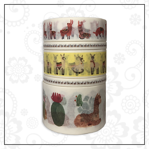 5pc washi tape set | llama