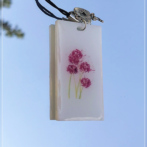 resin charm | cherry blossom tag