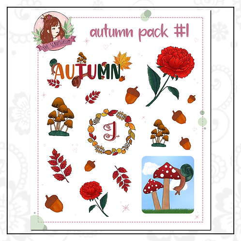 autumn sticker pack #1 {LIMITED EDITION}