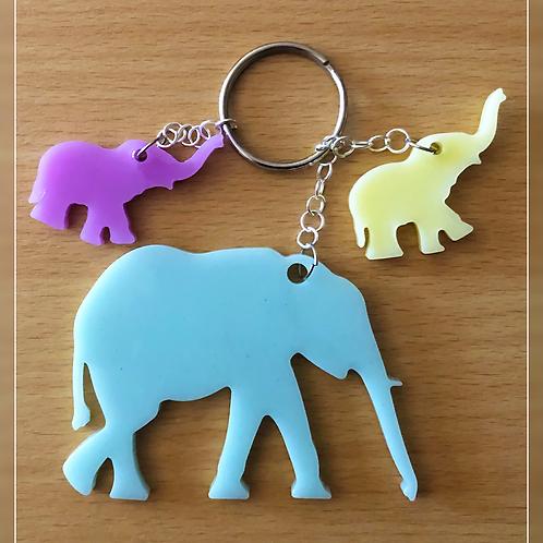 resin charm set | elephants & bears